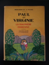 BERNARDIN DE SAINT-PIERRE. CHARAVEL, Paul (illus) Paul et Virginie. Nilsson, Paris, 1928. Avec des aquarelles originales.