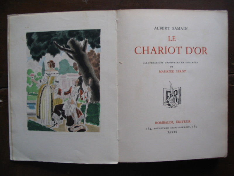 Samain albert leroy maurice illus le chariot d 39 or for Au jardin de l infante albert samain