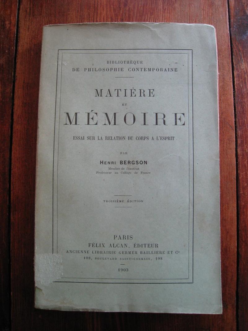 bergson  henri  mati u00e8re et m u00e9moire  essai sur la relation du corps  u00e0 l u0026 39 esprit  paris  librairie