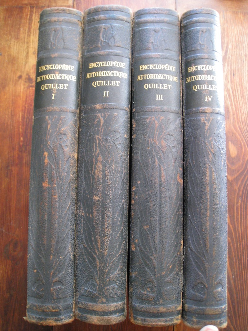encyclopedie quillet 4 volumes