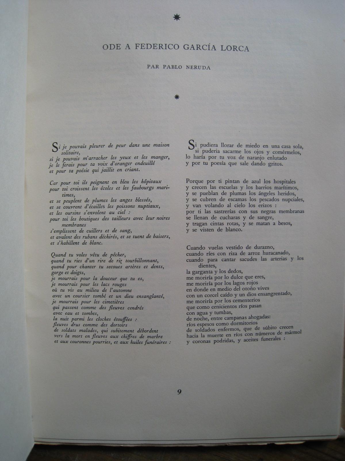 Lorca Federico Garcia Le Poète à New York Glm Paris